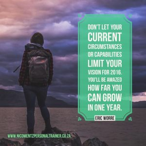 Don't let your current circumstances